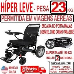 Cadeira De Rodas Motorizada Híper Leve -23 Kgs - Preta