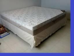 ::: Conjunto Cama Box Colchao Ortobom Elegante Super King 193x203 A Pronta Entrega