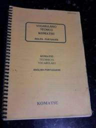 Título do anúncio: Vocabulário técnico Komatsu Inglês-Português