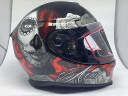Capacete Axxis Lady Catrina Red - Vermelho