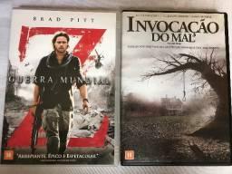 DVD Guerra Mundial Z + DVD Invocação do Mal