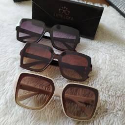 Óculos de sol em acetato feminino super na.moda lupa loka