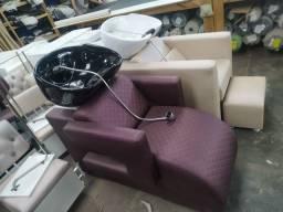 Lavatório - cadeira hidráulica salão - maca - Mocho - manicure - esmalteria