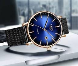 Relógio LIGE Original 10x Cartão.