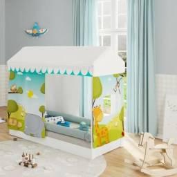 Mini cama montessoriana com dossel II