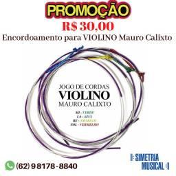 Cordas - Encordoamento para Violino Mauro Calixto
