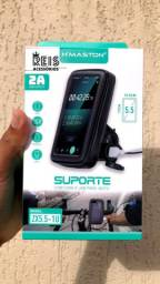 Suporte Celular Moto Hmaston Carregador Usb Zx5.5-1u 2a