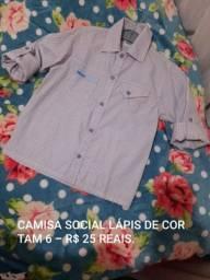 Camisa social marca lápis de cor