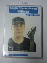 Guitarra Coleção Primeiros Acordes Dvd Video Aula Original Novo Lacrado