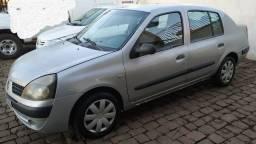 Clio sedan authentique 1.0 16v 4p 2005 c/ar condicionado (completo)
