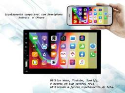 Central Multimidia MP10.1 Voolt Universal 2DIN USB, SD Espelhamento Android e IOS<br><br>
