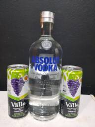 Combo vodka absolut + suco!!