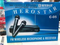 Kit Completo Microfone S/fio Wireless Receptor Profissional