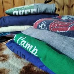 Kit infantil menino camiseta manga longa curta outono inverno lote Brechó