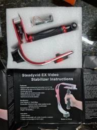 Estabilizador de vídeo manual p/ celular e câmera