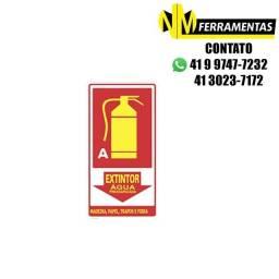 Título do anúncio: Placa Advertência Extintor Água Classe A Unidade