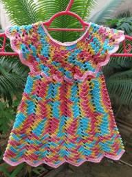 Vestido de crochê para bebê
