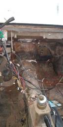 Gol 1989 cinza 1.6 álcool túnel trincado,dok 600 está desmontado motor câmbio painel,tudo