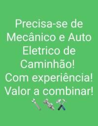 Vagas - Mecânico/Auto Elétrico *CAMINHÃO
