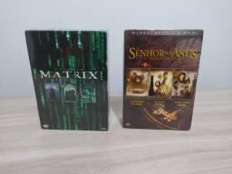 BOX DVD Senhor dos anéis e Matrix