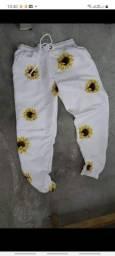 Lote de calça tactel com elástico na perna