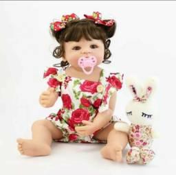 Boneca bebe reborn 55cm pode dar banho