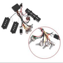 Circuito Pre Amp para baixo 4 cordas com captadores ATIVO.