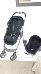 Carrinho De Bebê Olympus Black + Bebê Conforto Cocoon