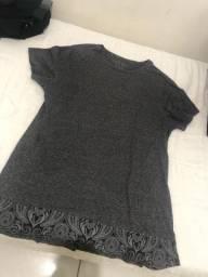 Camisa long line tamanho GG