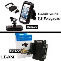 Suporte celular para moto com capa protetora ou Suporte universal para moto LE-024