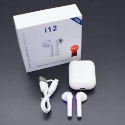 Fone de Ouvido Wireless i12 TWS Bluetooth 5.0