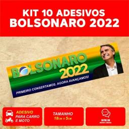 Adesivo Bolsonaro 2022 Presidente Bolsomito Mito 10 Unidades