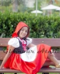Fantasia Chapéuzinho Vermelho Infantil Com Capuz.