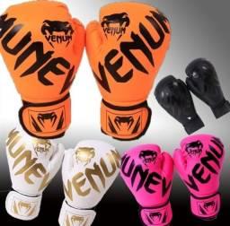 Luvas para boxe muay thai para crianças e adultos Vênum Luvas de couro