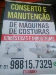 Concerto e manutenção de máquinas de costura doméstica e industrial a domicílio ou aqui