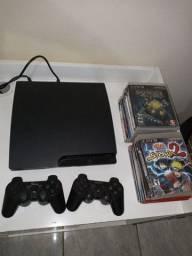 Vendo esse PS3 Com 2 controles e 14 jogos