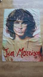 Bandeira Raríssima em tecido Jim Morrisson da banda The Doors.