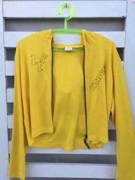 Casaquinho amarelo super fresquinho
