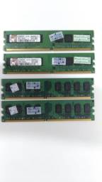 Memórias DDR2 2gb 800mhz Kingston