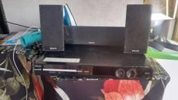 Aparelho de dvd com caixas Philips