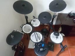 Bateria Eletronica Roland Td-9kv V-drums,banco Pedal Baqueta