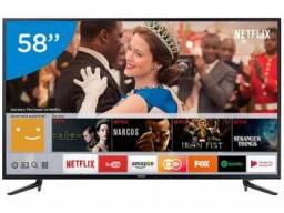 Smart tv led 58? samsung 4k/ultra hd 58mu6120 - tizen conversor digital wi-fi 3 hdmi 2 usb