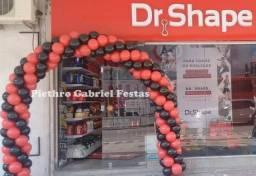 Arco de balões / bexigas para lojas, comércios e eventos