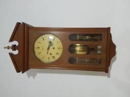 Relógio carrilhão antigo parede marca portuguesa Reguladora