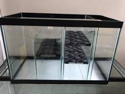 Sump (filtro) novo com 3 passagens, 60x30x40cm