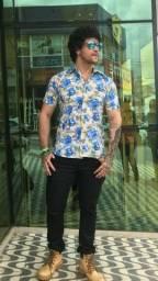 Camisas Manga Curta, Corte Slim. Lisas e Estampadas
