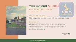 TE0029 Curitiba Rebouças Terreno esquina à venda, 760 m² por R$ 900.000