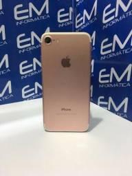 IPhone 7 128GB Rosa com nota e garantia, somos loja fisica