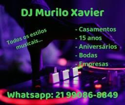DJ completo com iluminação de pista de dança