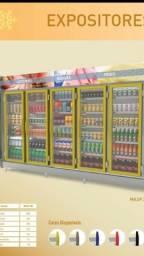 Balcões refrigerados, geladeiras expositoras, ilhas equipamentos em geral